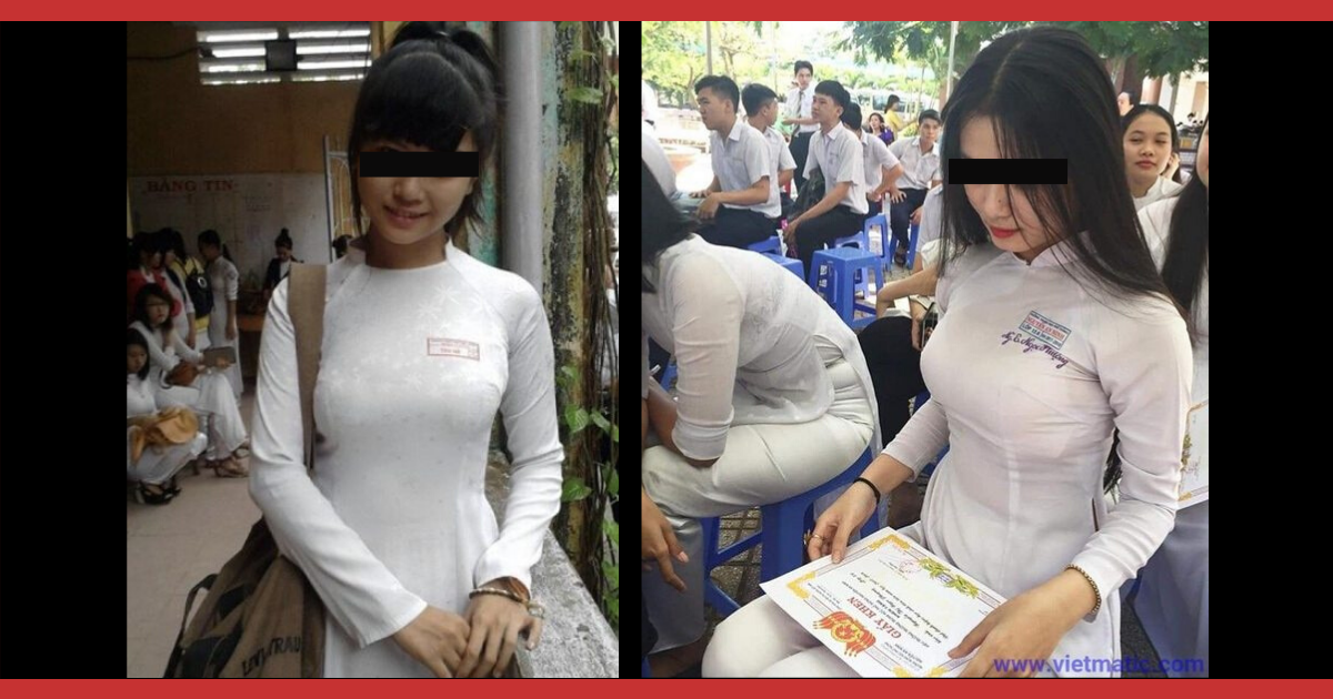 ベトナムのJK服がピチピチ